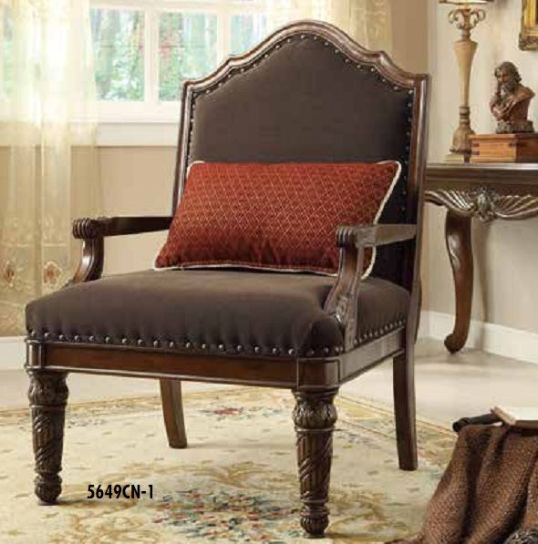 catalina ii cherry wood chenille accent chair he 5649cn 1 by home rh pinterest com