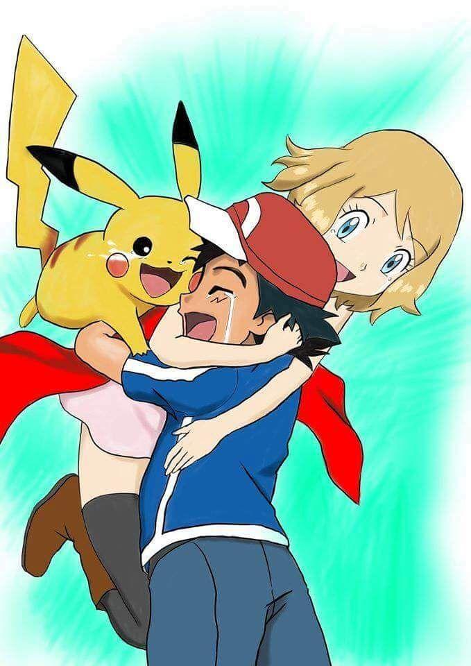 I Win Serena Satoshi  Pokemon Ash, Serena, Pokemon -7148