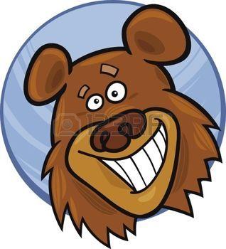 divertido%3A+Ilustraci%F3n+animada+de+oso+divertido
