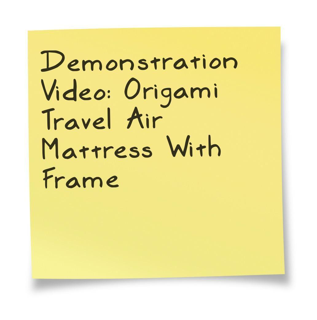 Air Mattress With Frame Demonstration Video. | Air ...