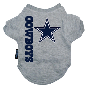DogClothes4U | Dallas Cowboys Dog Tee Shirt $20. Outfit your dog with the latest game day gear!