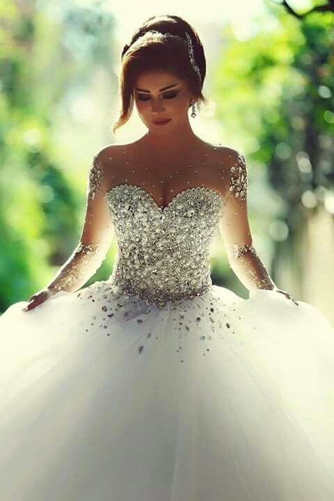 vestido novia todo bordado con piedras pollera princesa de tul
