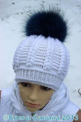 красивая зимняя шапка крючком головные уборы вязание крючком