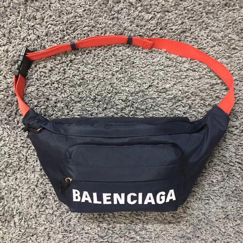 29b14f9153 Balenciaga Wheel Nylon Belt Bag Blue Red 2018