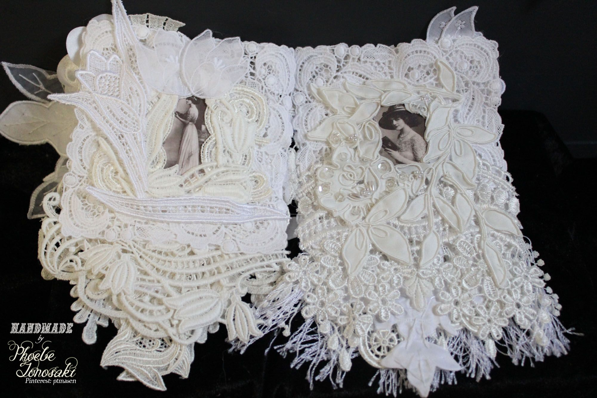 Comment by Phoebe Tonosaki: Lavender sachet book page 4 and 5. She has beautiful lace and flower work. Check her out if you have time.