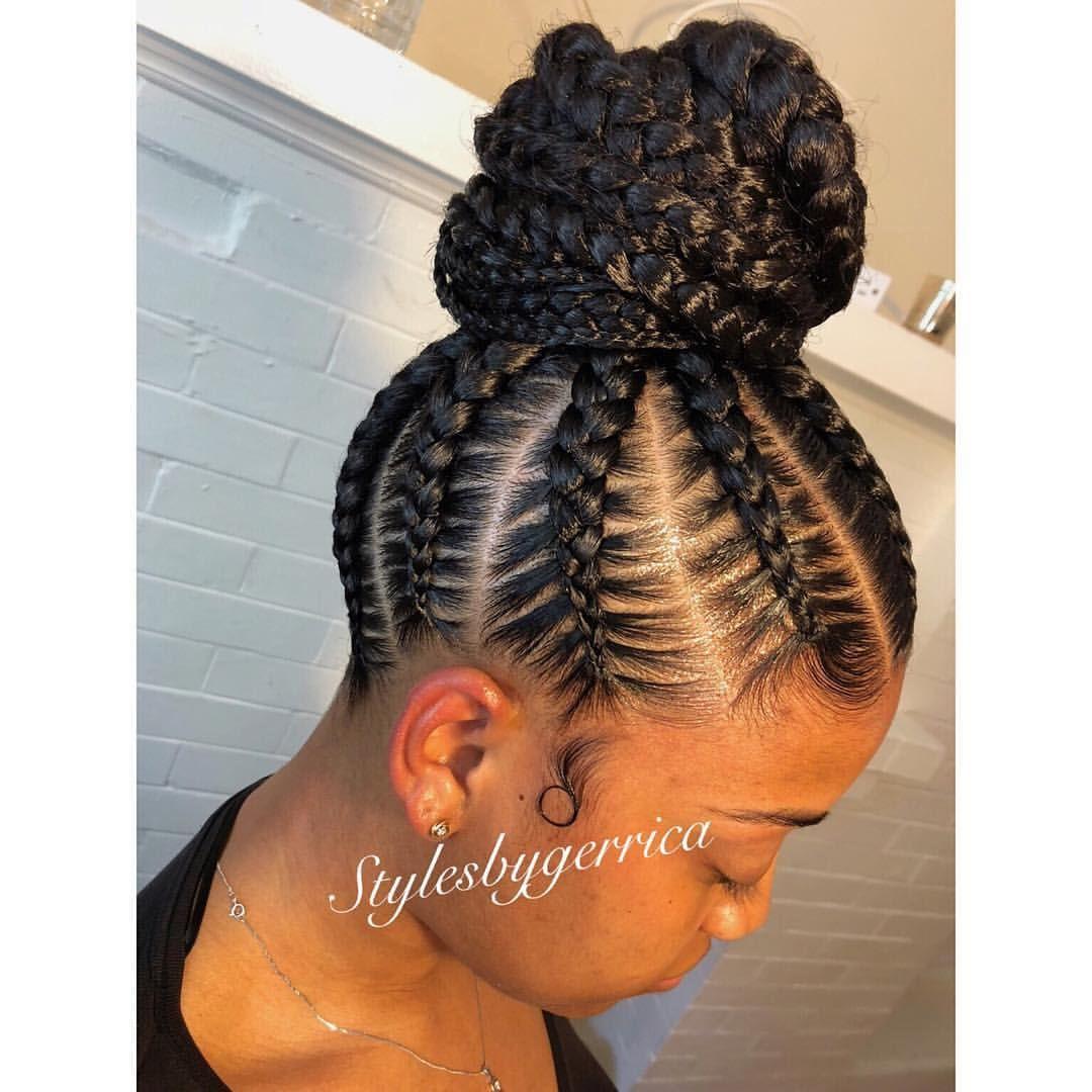 So Cute Stylesbygerrica Rapunzel Feedin Ponytail Braided Hairstyles For Black Women Cornrows Cornrow Hairstyles Braided Bun Hairstyles