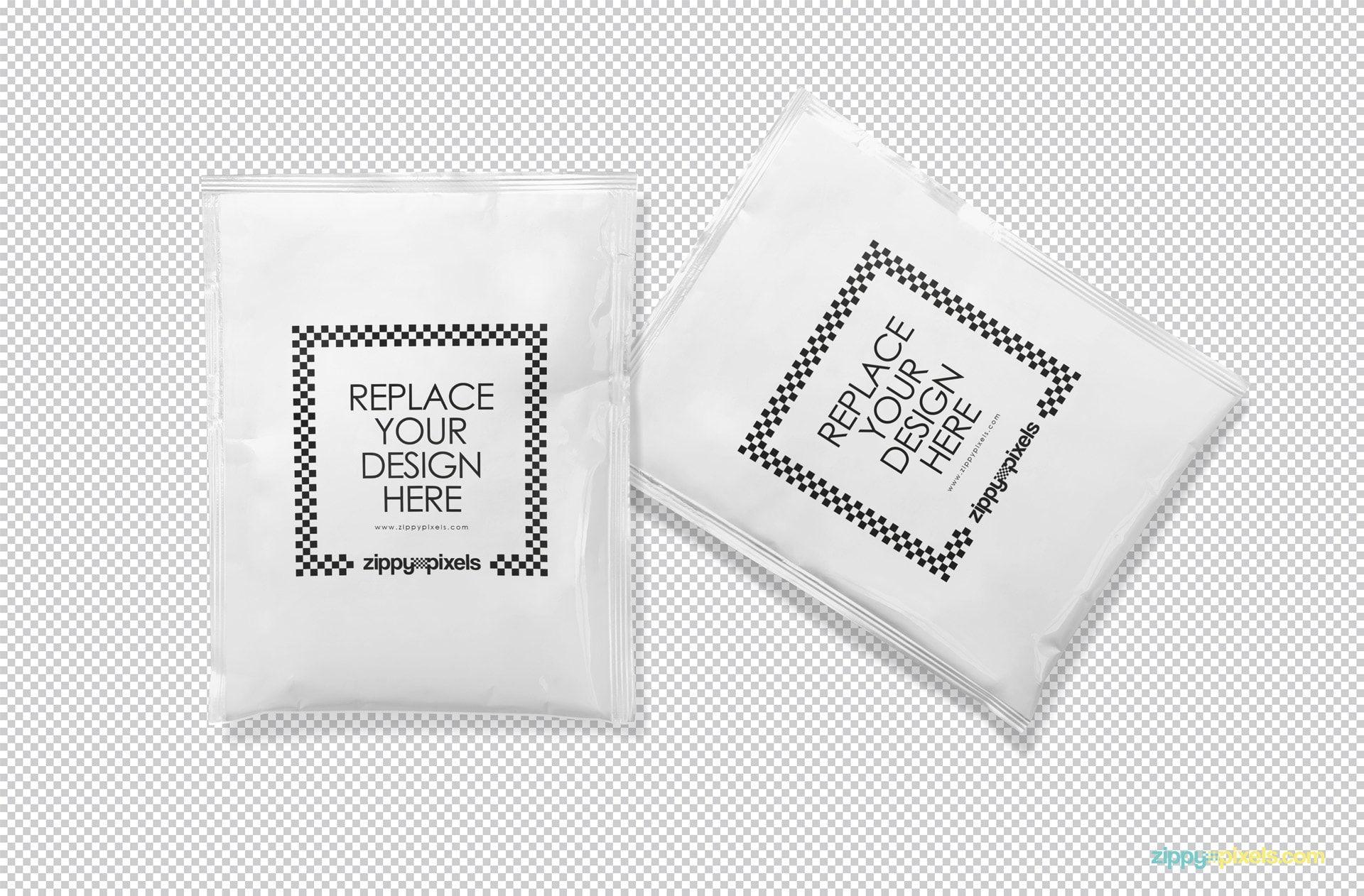 Download Free Foil Sachet Mockup Zippypixels Salon Logo Design Sachet Packaging Mockup