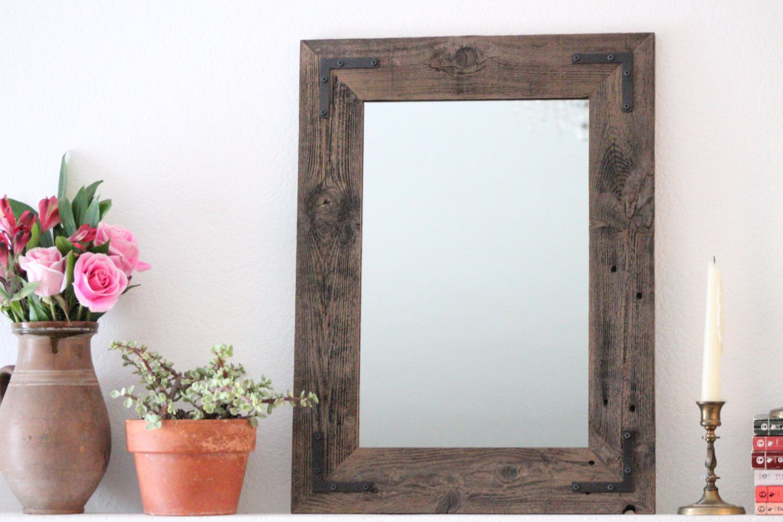 Reclaimed Wood Mirror 18x24 Bathroom Mirror Wood Mirror Framed Mirror Hurd And Honey By Hurdandh Reclaimed Wood Mirror Wood Mirror Wood Framed Mirror [ 1000 x 1500 Pixel ]