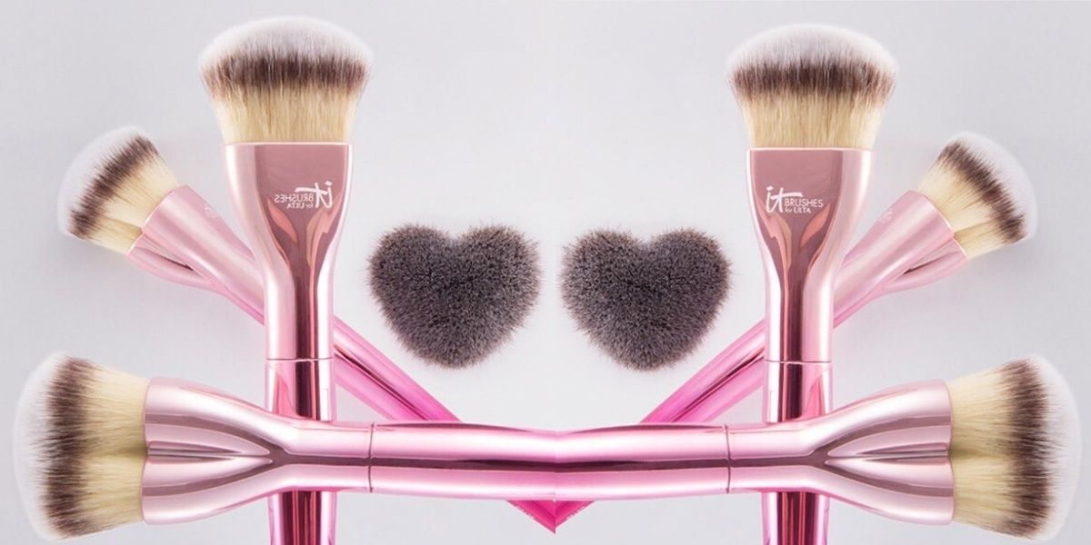 You Re Going To Fall In Love With These Heart Shaped Makeup Brushes Cosmopolitan Makeup Brushes Makeup Foundation Brush Makeup
