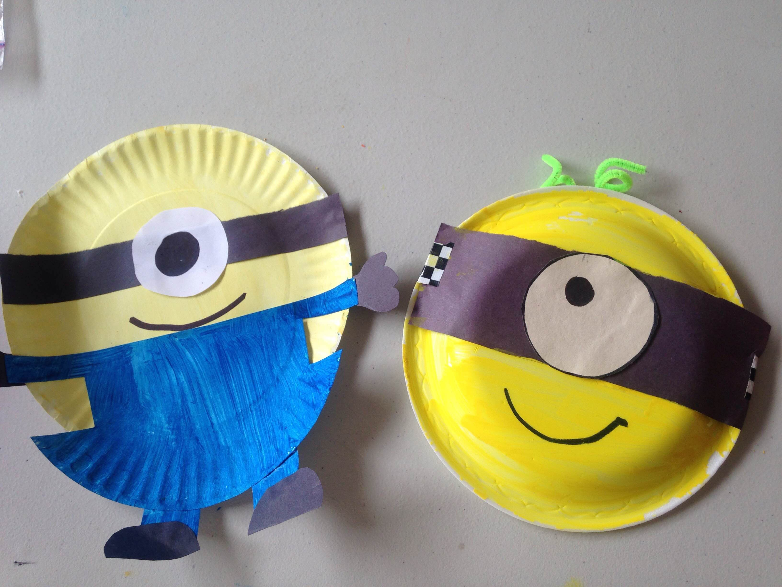Paper Plate Minions C&ers will be able to make their favourite minion using paper plates & Paper Plate Minions: Campers will be able to make their favourite ...