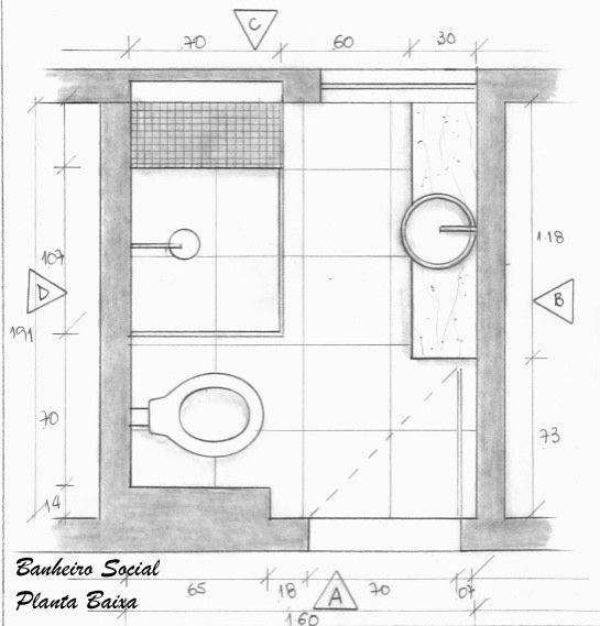 Suíte 2 Banheiro Planta Baixa  Projeto Ana Lucia Nunes  Banheiros  Pinterest -> Banheiro Com Banheira E Chuveiro Planta