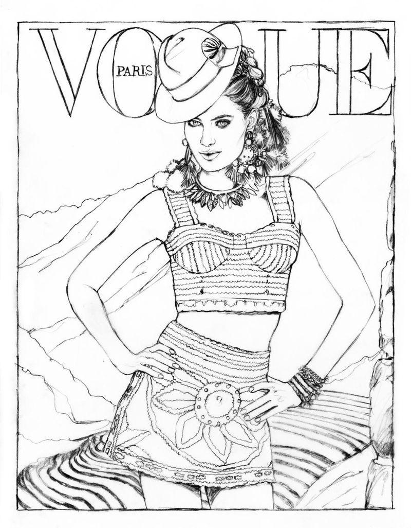 Vogue A Colorier Vogue Paris Fashion Coloring Book Coloring Books Color Me Beautiful