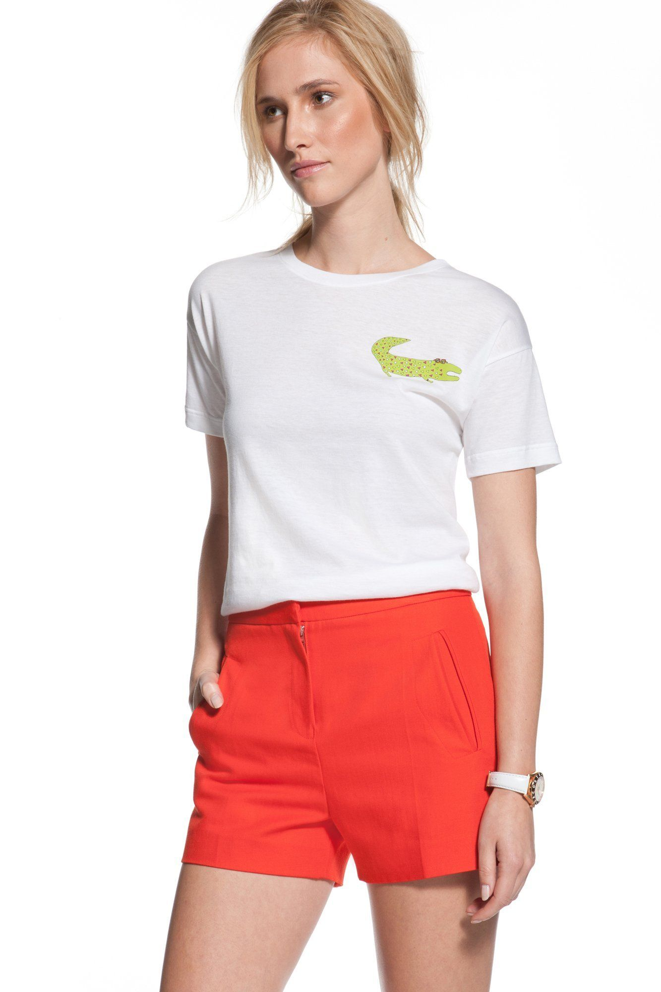 Yes, sir, that's my crocodile!  In collaboration with Virginia Kraljevic, Lacoste presents this T-shirt featuring the brand's eponymous crocodile. A touch of humour which will pep up to a Sportswear wardrobe.   www.lacoste.com #lacoste #fashion #spring #summer #2012 #collaboration #crocodile #redesign