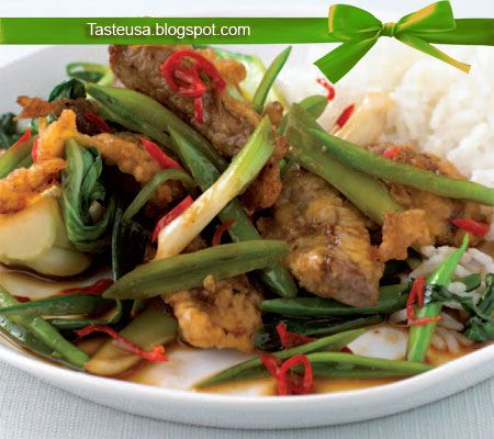 crispy beef and vegetables