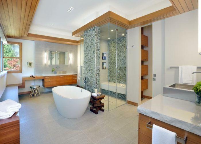 Decke Badezimmer ~ Decke mit holzverkleidung beistelltisch aus holz industrial