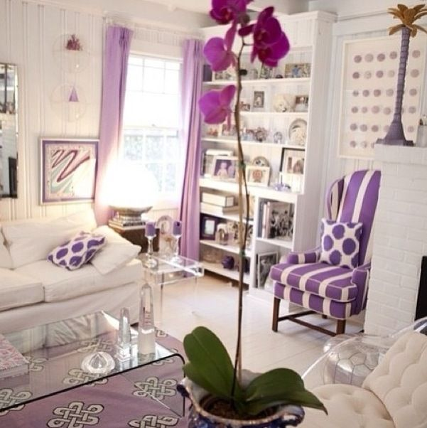 Purple accented room