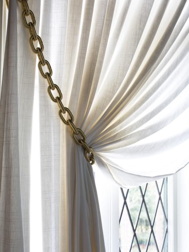 How To Make Gold Chain Curtain Tiebacks Http Www Hgtv