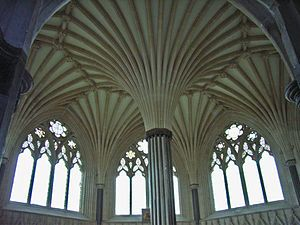 Ribbed Vault Characteristic Of Gothic Architecture