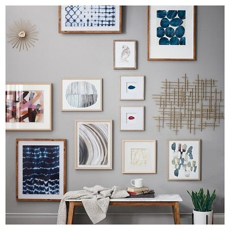 Framed Watercolor Blue Abstracts 16 x 20 3-Pack - Threshold ...