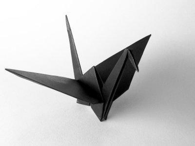 Origami Funeral Crane