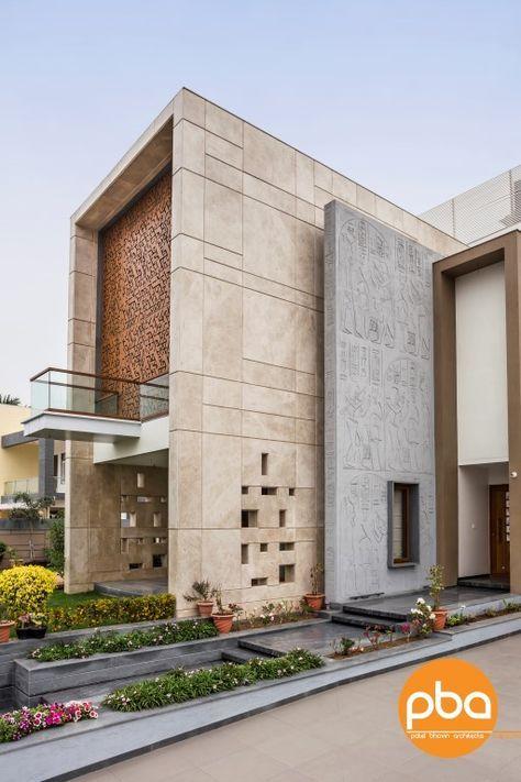 Concrete Wall Design Google Search House Front Design Modern Villa Design Architecture