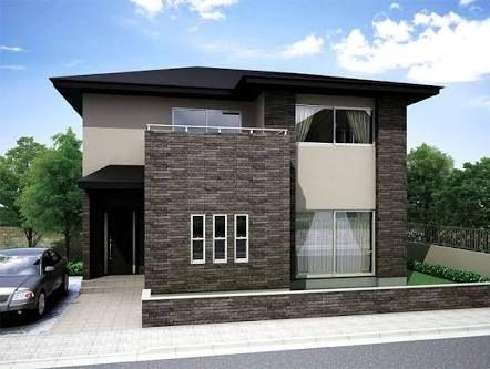 玄関 タイル グレーの外壁 の画像検索結果 住宅 外観 マイホーム