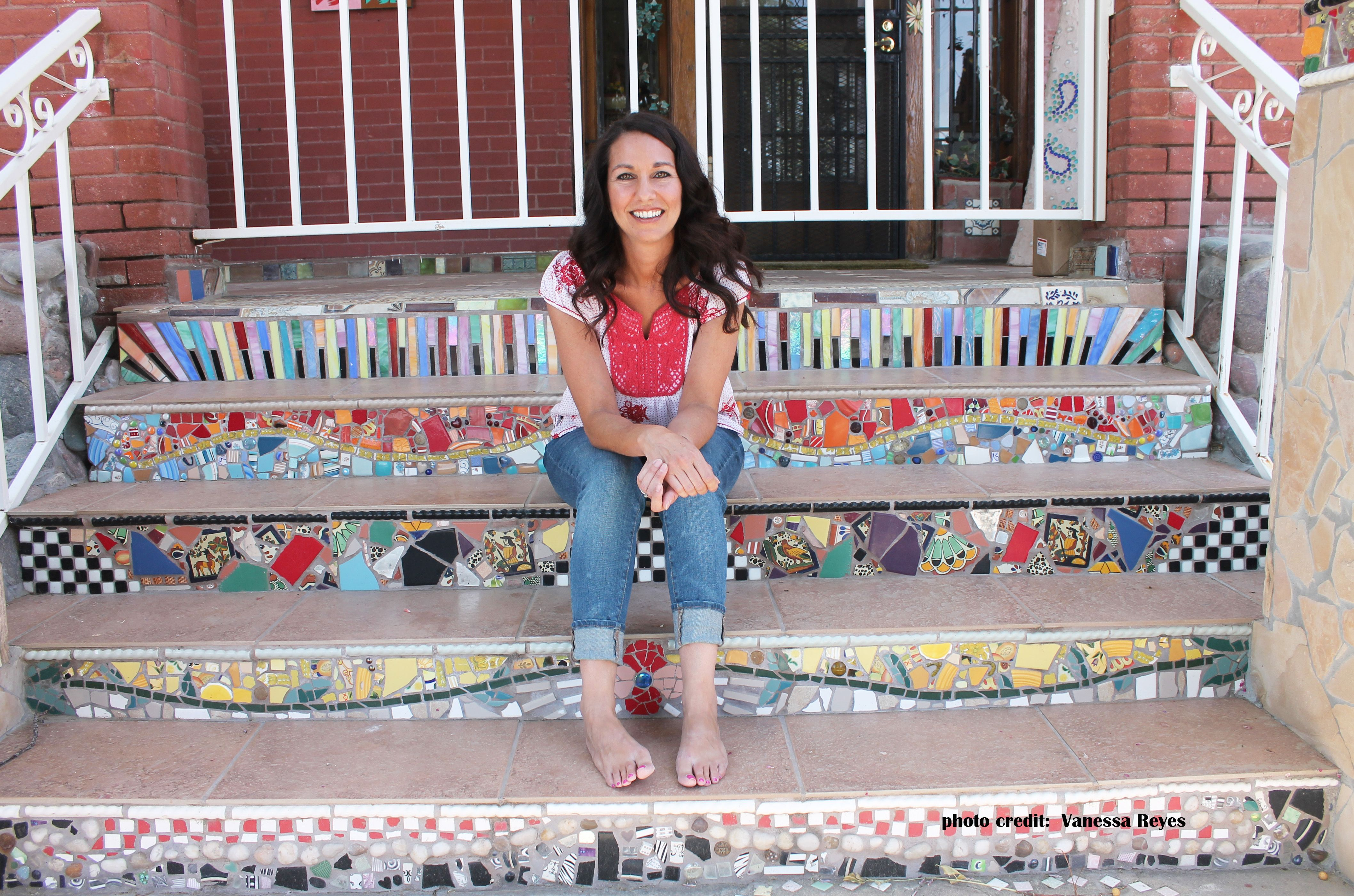 Let's be candid. | Mosaic Stairs | Mosaic tile art, Mosaic ...