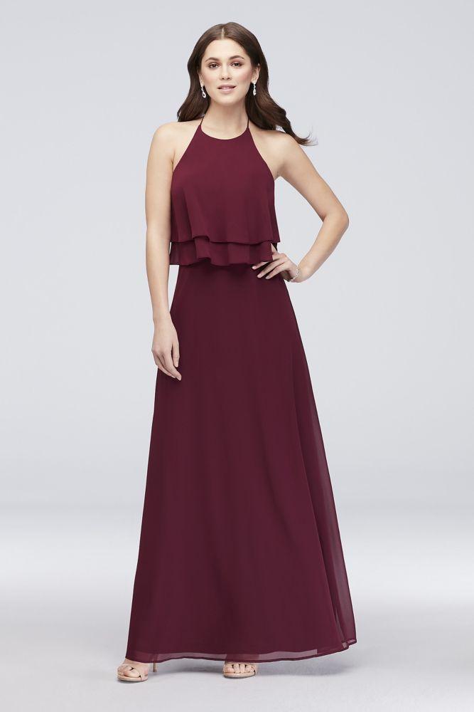 cc15ccc2fb8 Tiered Ruffle Chiffon High-Neck Bridesmaid Dress Style W60006 ...