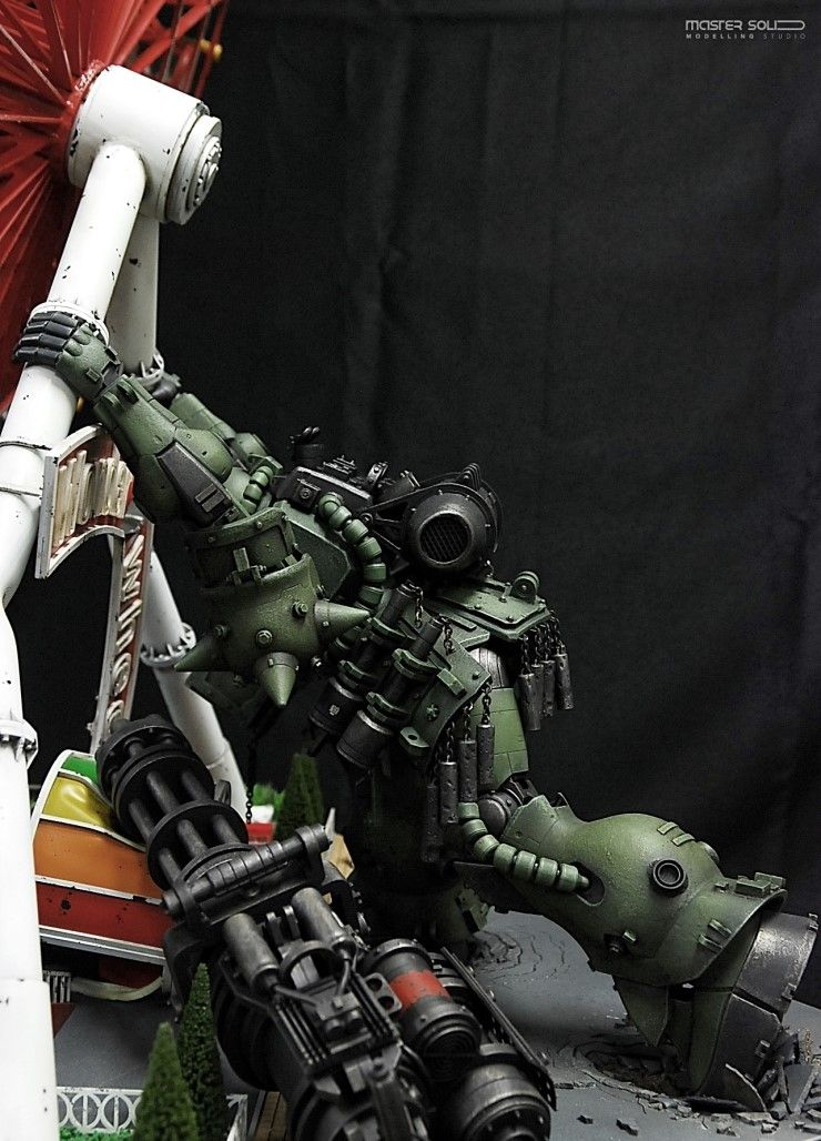 """Diorama Mega Size Zaku """"Over Weight"""" Full Photoreview. Latest Work by Master Solid http://www.gunjap.net/site/?p=244606"""