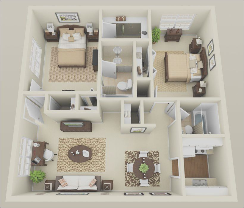 15 Casual Interior Design 2 Bedroom Apartments Image In 2020 Small House Interior Design Tiny House Interior Design Small House Design Living Room