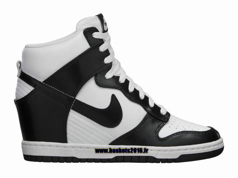 c91c56672f4 Chaussures Nike Dunk Sky High Nike Officiel Pas Cher Pour Femme Noir - Blanc  528899-101
