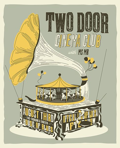 Two Door Cinema Club Ms Mr Gig Poster By Tyler Hahn Two Door Cinema Club Indie Movie Posters Gig Posters