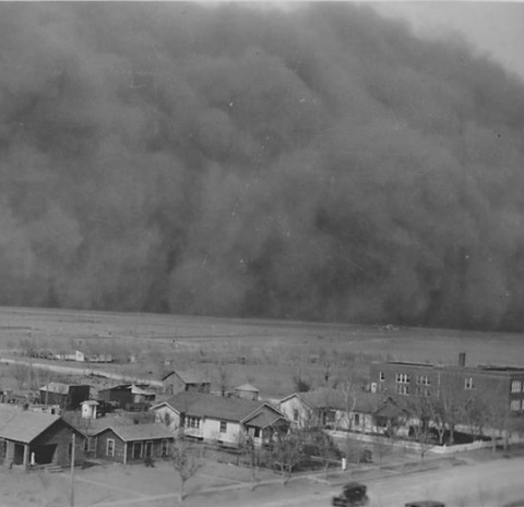 "Dust Storm in Rolla, Kansas; ""05/06/35; Dear Mr. Roosevelt"