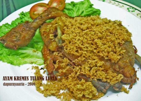 Resep Ayam Goreng Tulang Lunak Kremes Resep Aneka Ayam Pork Loin Recipes Indonesian Food Food