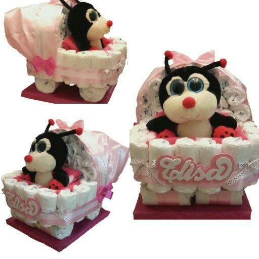 tarta de paales carrito de bebe encarganos la tuya en nuestra pagina de facebook