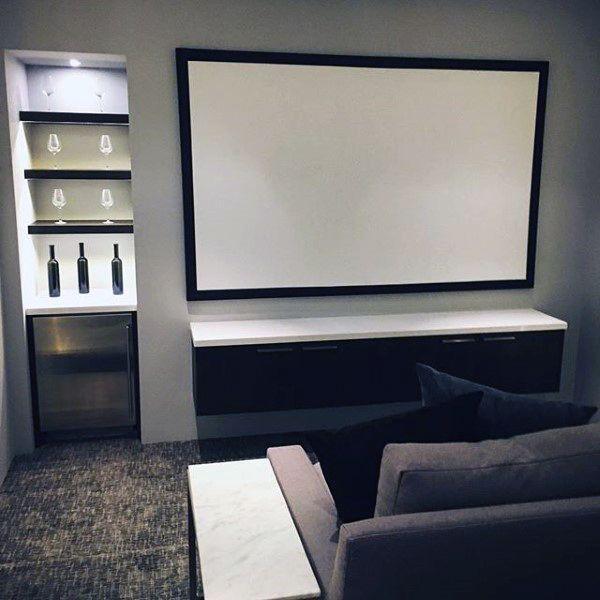 80 Home Theater Design Ideas For Men Movie Room Retreats Small Movie Room Home Cinema Room Media Room Design