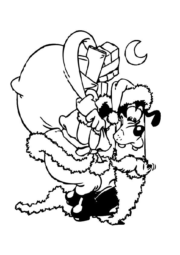 Goofy Ausmalbilder | Christmas coloring pages, Coloring pages