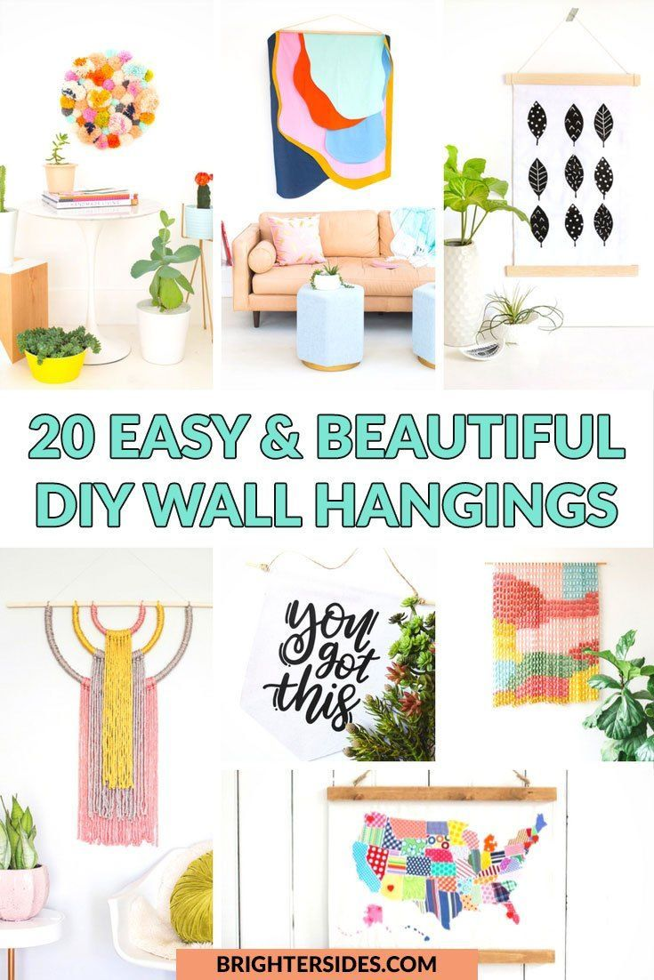 easy and beautiful diy wall hangings awesome diy art