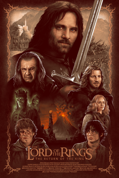 LORD OF THE RINGS; RETURN OF THE KING Movie PHOTO Print POSTER Gollum Film Art 2