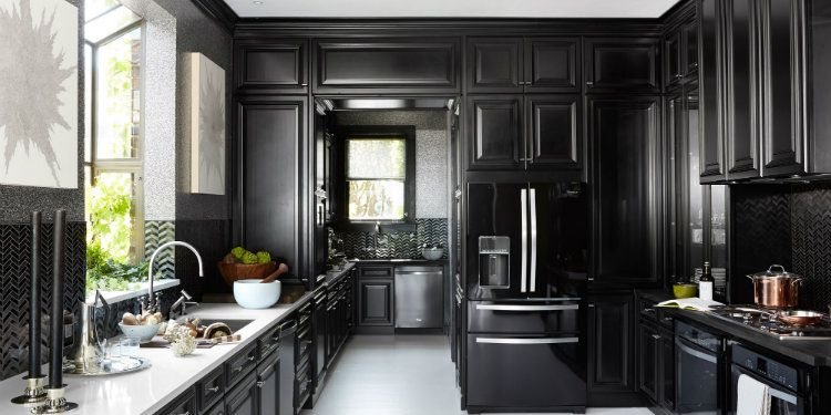 14 Ultimate Black Kitchen Color Ideas For 2016 In 2020 Popular Kitchen Designs Black Kitchens Kitchen Interior