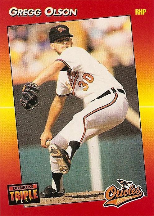 30 Gregg Olson Rhp Orioles Baltimore Orioles Orioles Baseball