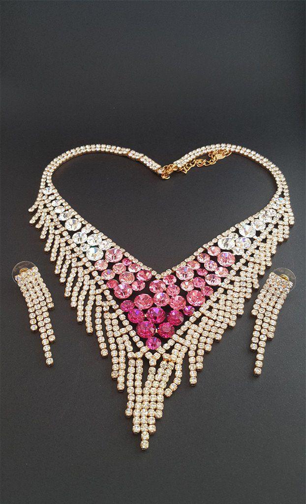 Delicate and Pretty White Diamond set – Sivah Fashion