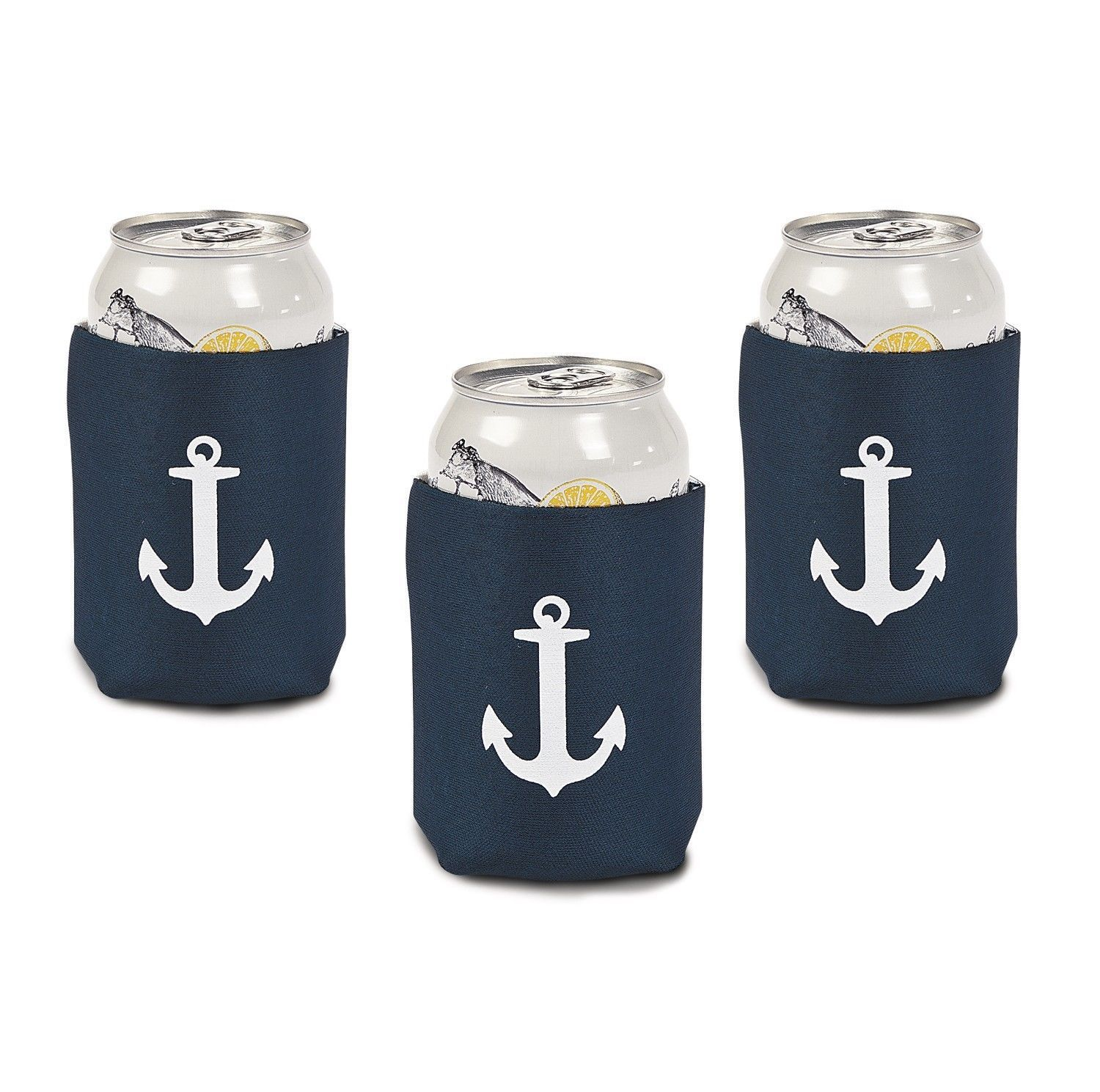 Wedding Favours: 10 Nautical Anchor Soda Can Insulator Wedding Favor ...