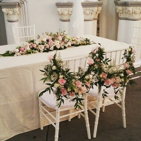 Bridal Couple Chairs Solemnisation Table