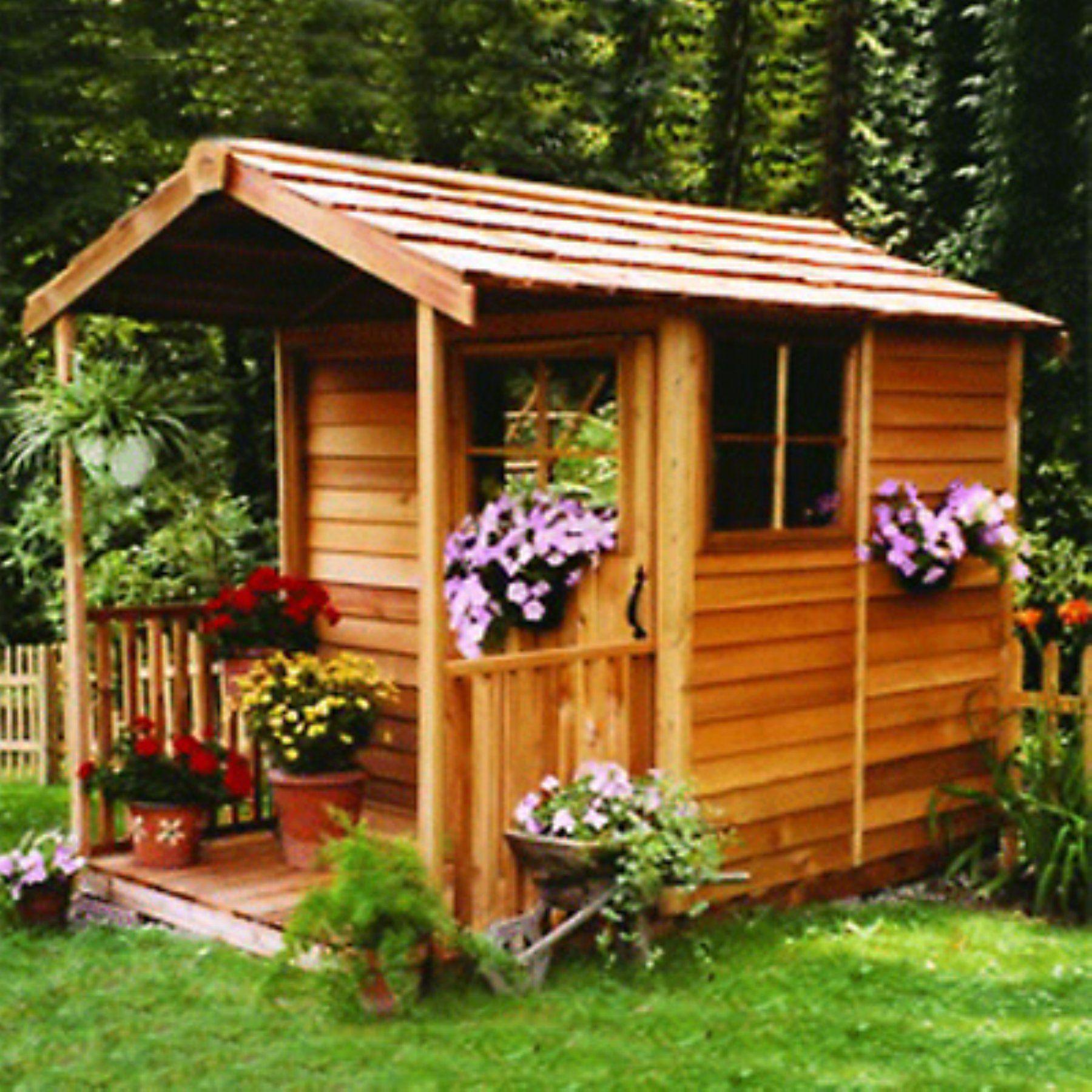 Cedar Shed 6 X 12 Ft Gardeners Delight Potting Shed Deco Facade Maison Cabanon De Jardin Abri De Jardin