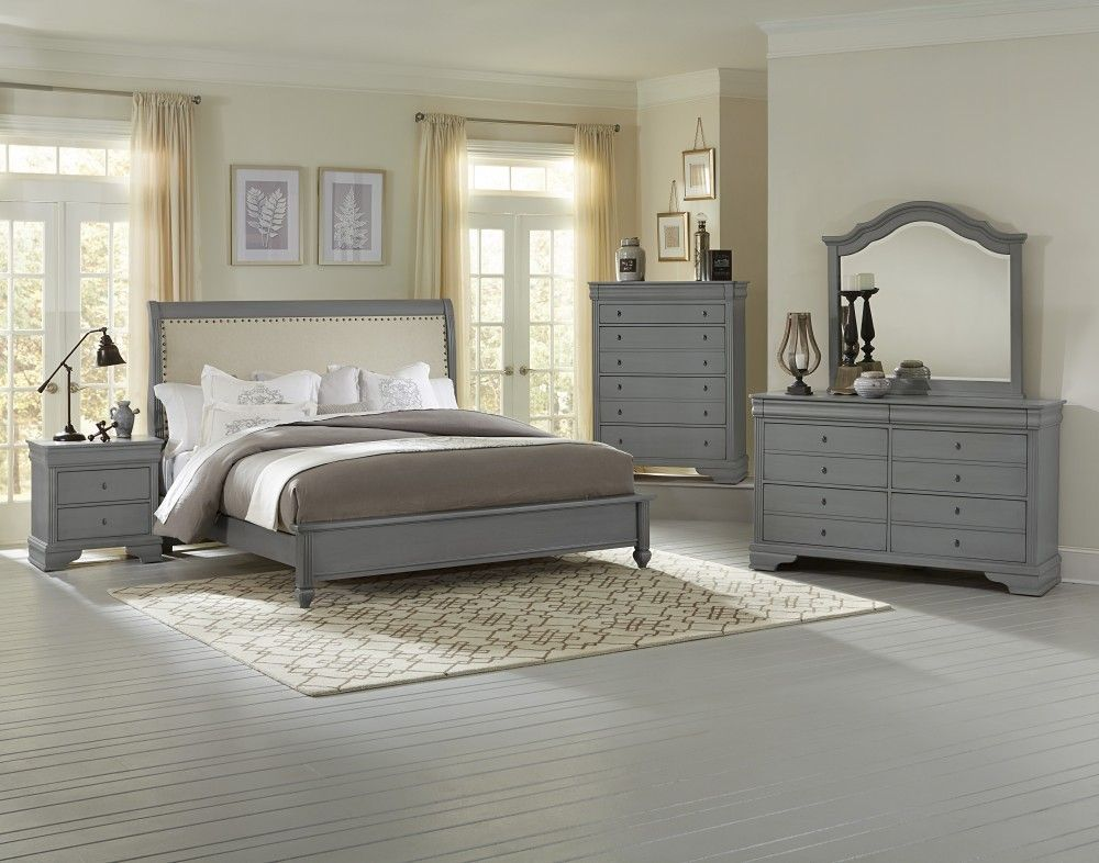 French Market 4Piece Queen Bedroom Set In Zinc  Nebraska Glamorous French Bedroom Set Decorating Design