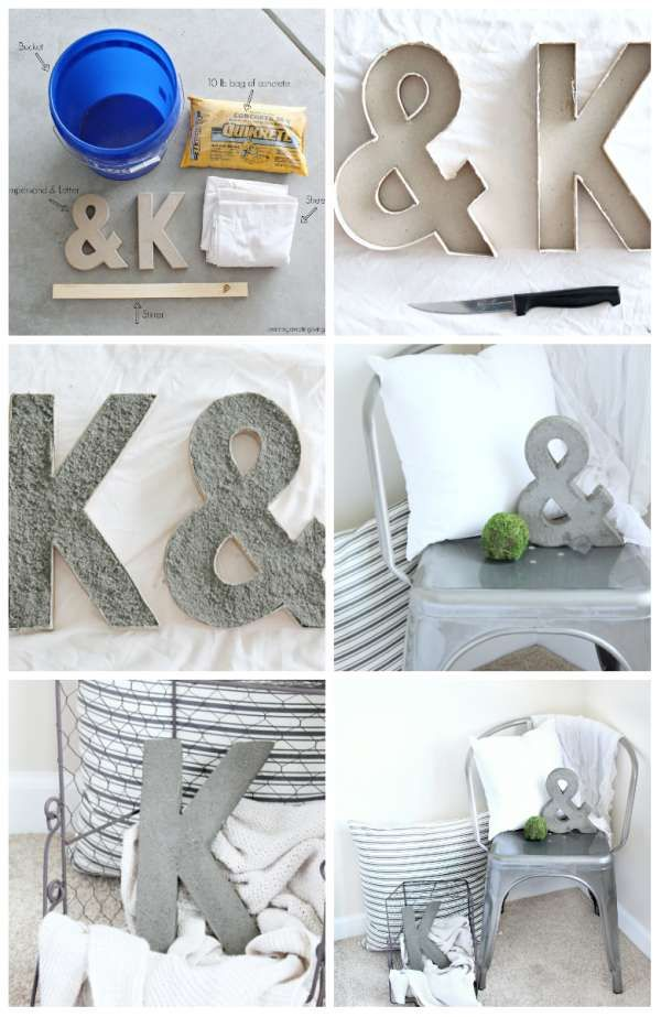 18 d corations diy originales avec des lettres et des - Lettres alphabet originales ...