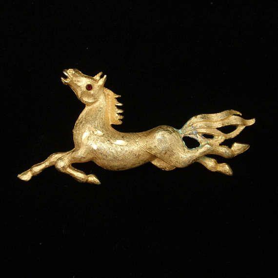 Horse Pin Vintage Brooch