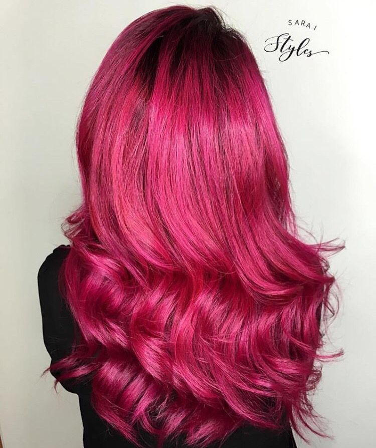 bright hot pink hairstyle haarfarben frisuren und rot. Black Bedroom Furniture Sets. Home Design Ideas