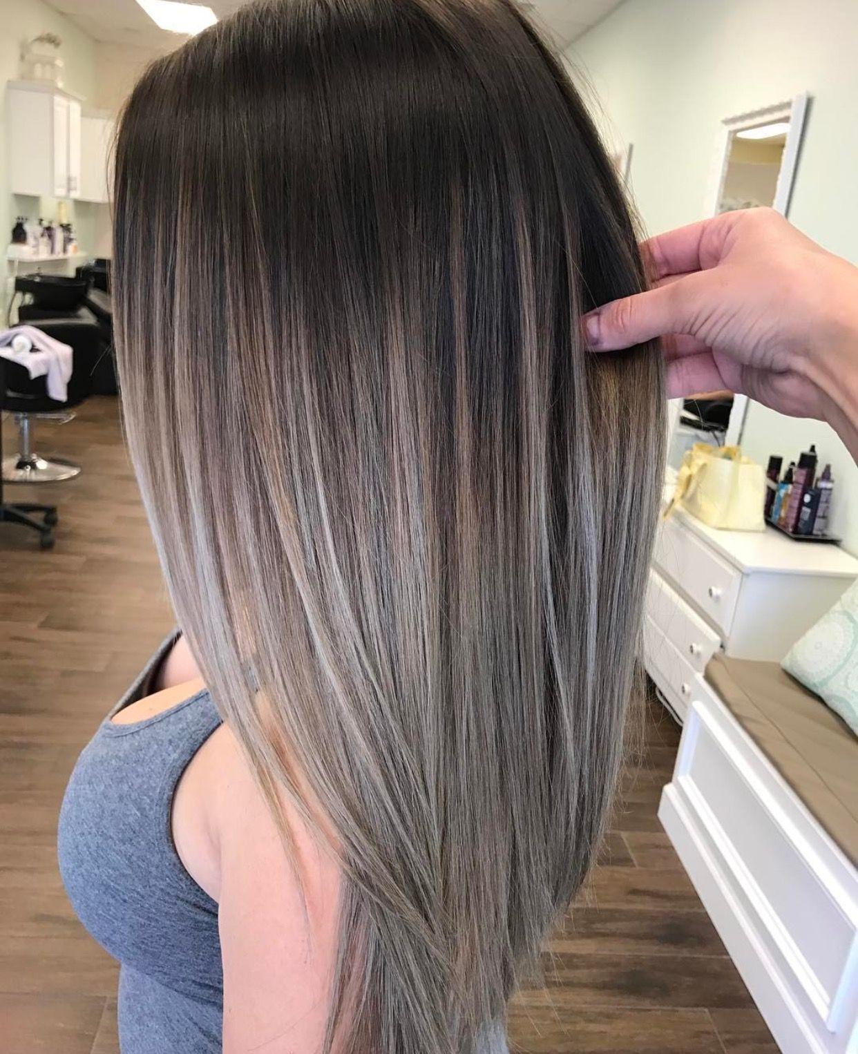 Pin By Tanya Aka Nonna B On Ha R Balayage Hair Hair Styles Ash Brown Hair Color